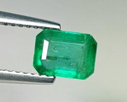 1.00 ct  Fantastic Gem Excellent Octagon Cut Natural Emerald