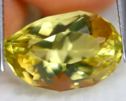 Prasiolite 8.00Ct VS Designer Cut Natural Brazilian Yellow Prasiolite B1931