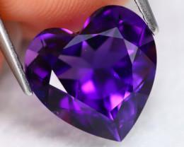 Uruguay Amethyst 4.47Ct VVS Heart Cut Natural Violet Amethyst B1316