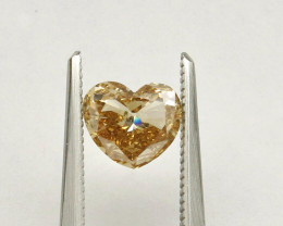 0.93ct Diamond Heart Natural Fancy Yellowish BrownDiamond HRD certified