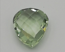 Prasiolith, pear cut, 7.495ct, eyeclean, excellent shape!
