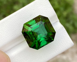 Asscher Cut ~ Chrome Color 27.00 Ct Afghani Tourmaline
