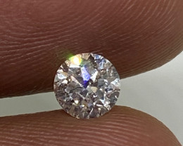 (1) Certified $1101 Fiery 0.50ct  SI1 White Round Diamond Natural