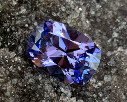 9.02 ct Custom Tanzanite - Precision Cut - Radiant