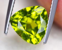 3.38ct Natural Green Peridot Trillion Cut Lot V7043