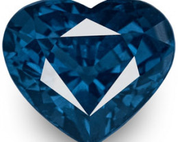 GIA Certified Madagascar Spinel, 3.91 Carats, Fiery Deep Blue Heart