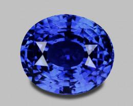 Exquisite natural vivid blue Ceylon sapphire.