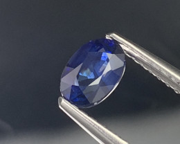"""NR""""GIL"" Unheated/Untreated Natural Royal Blue Sapphire 0.82 Carats"