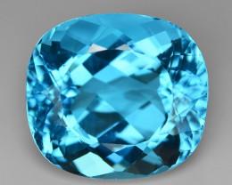 27.42 Carat Super Swiss Blue Color Natural Topaz Gemstones