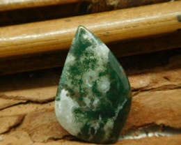 Moss agate cabochon (G1942)