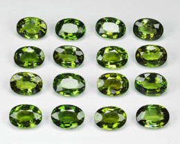 14.83 Cts 16pcs Un Heated Green Color Natural Tourmaline Loose Gemstone