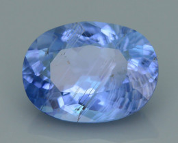 5.01 ct Maxixe Blue Beryl w Rutile Needles Brazil SKU-4