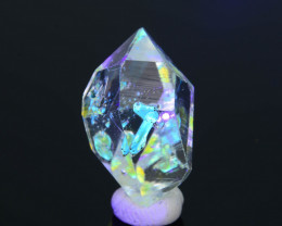 Rare 12.48 ct Natural Fluorescent Petroleum Quartz SKU.1