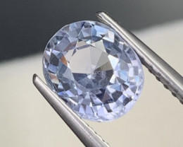 2.46 Cts Baby Blue Sapphire Unheated/Untreated Fine Luster