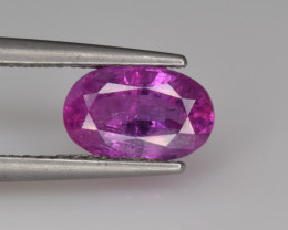 Natural Ruby 1.85 Cts from Afghanistan, Top Quality