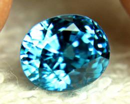6.10 Ct. Vibrant Blue Southeast Asian VVS1 Zircon