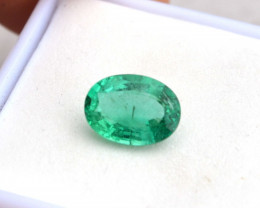 2.09 Carat Certified Oval Cut Emerald