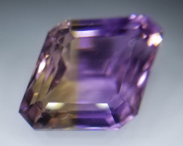 Ametrin, 10.31ct, exceptional stone!! VVS