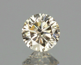 0.09 Cts Natural Untreated Diamond Fancy Yellow 2.8mm Round Cut Africa