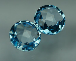 6.730 CRT BEAUTY PAIR SKY BLUE TOPAZ-