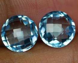 6.505 CRT BEAUTY PAIR SKY BLUE TOPAZ-