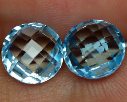 7.040 CRT BEAUTY PAIR SKY BLUE TOPAZ-