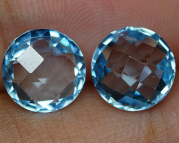 6.550 CRT BEAUTY PAIR SKY BLUE TOPAZ-