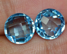 7.045 CRT BEAUTY PAIR SKY BLUE TOPAZ-