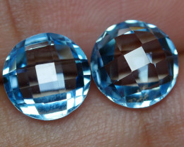 6.480 CRT BEAUTY PAIR SKY BLUE TOPAZ-