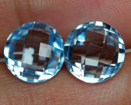 6.570 CRT BEAUTY PAIR SKY BLUE TOPAZ-