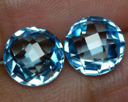 6.920 CRT BEAUTY PAIR SKY BLUE TOPAZ-