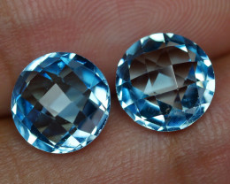6.385 CRT BEAUTY PAIR SKY BLUE TOPAZ-