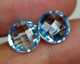 7.075 CRT BEAUTY PAIR SKY BLUE TOPAZ-