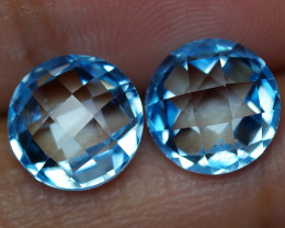 7.135 CRT BEAUTY PAIR SKY BLUE TOPAZ-
