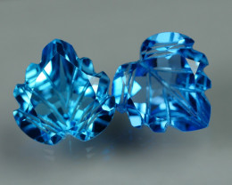 8.650 CRT BEAUTY LOVELY BLUE TOPAZ CARVING-