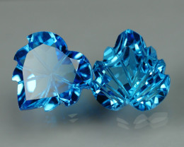 9.345 CRT LOVELY SWISS BLUE TOPAZ CARVING-