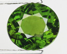 1.55 Ct Natural Green Green Diopside Good Quality Gemstone CD20