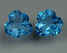 8.230 CRT LOVELY SWISS BLUE TOPAZ CARVING-