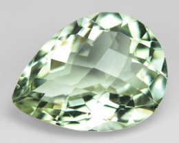 12.30 Cts Amazing Rare Checker Board Natural Green Amethyst Loose Gemstone