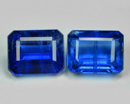 4.19 Cts 2 Pcs Fancy Royal Blue Color Natural Kyanite Gemstone