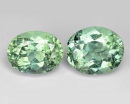 2.55 Cts 2pcs Un Heated Green Color Natural Tourmaline Loose Gemstone