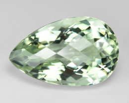 12.10 Cts Amazing Checker Board Natural Green Amethyst Loose Gemstone