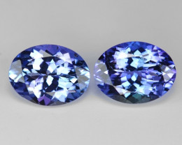 3.21 Cts 2pcs Amazing rare Violet Blue Color Natural Tanzanite Gemstone