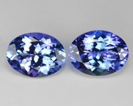 *NoReserve*Tanzanite 3.21 Cts 2pcs Amazing rare Violet Blue Color Natural G