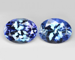 3.24 Cts 2pcs Amazing rare Violet Blue Color Natural Tanzanite Gemstone