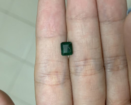 1.04 rectangular cut emerald