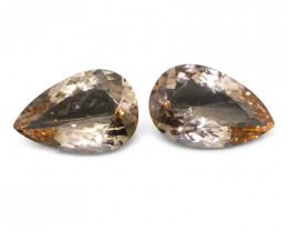 8.97 ct Pear Morganite Pair