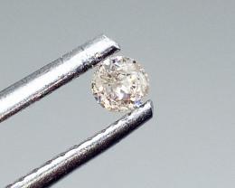 0.10ct Light Brown  Diamond , 100% Natural Untreated