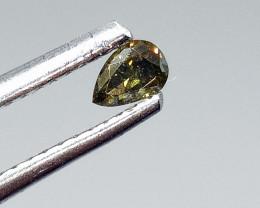 0.175ct Fancy Deep Bluish Green  Diamond , 100% Natural Untreated