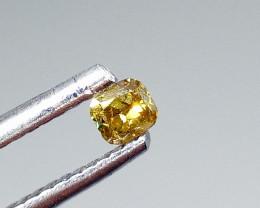0.145ct Fancy Vivid Yellowish Green  Diamond , 100% Natural Untreated